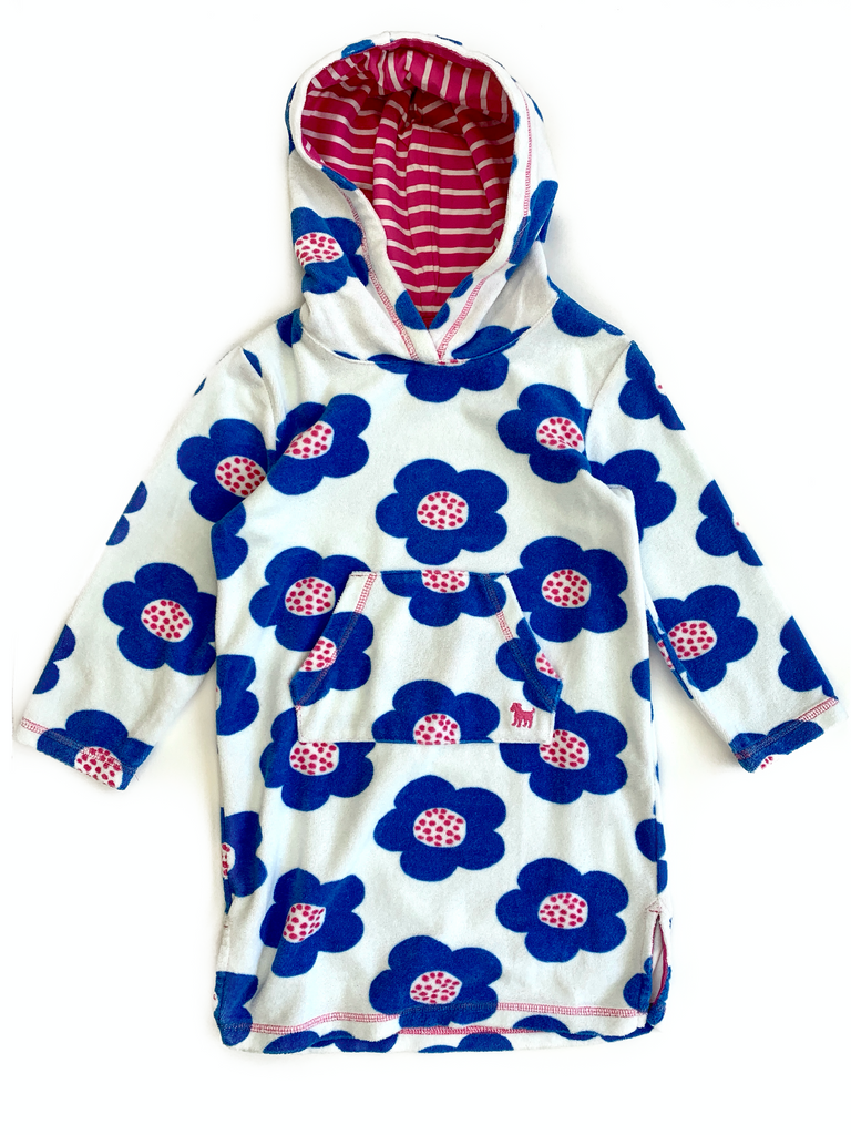 Boden toweling dress with hood - 4/5 yrs