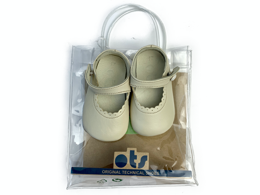 OTS Leather Pram Shoes - Size 17 (3/6 mths)