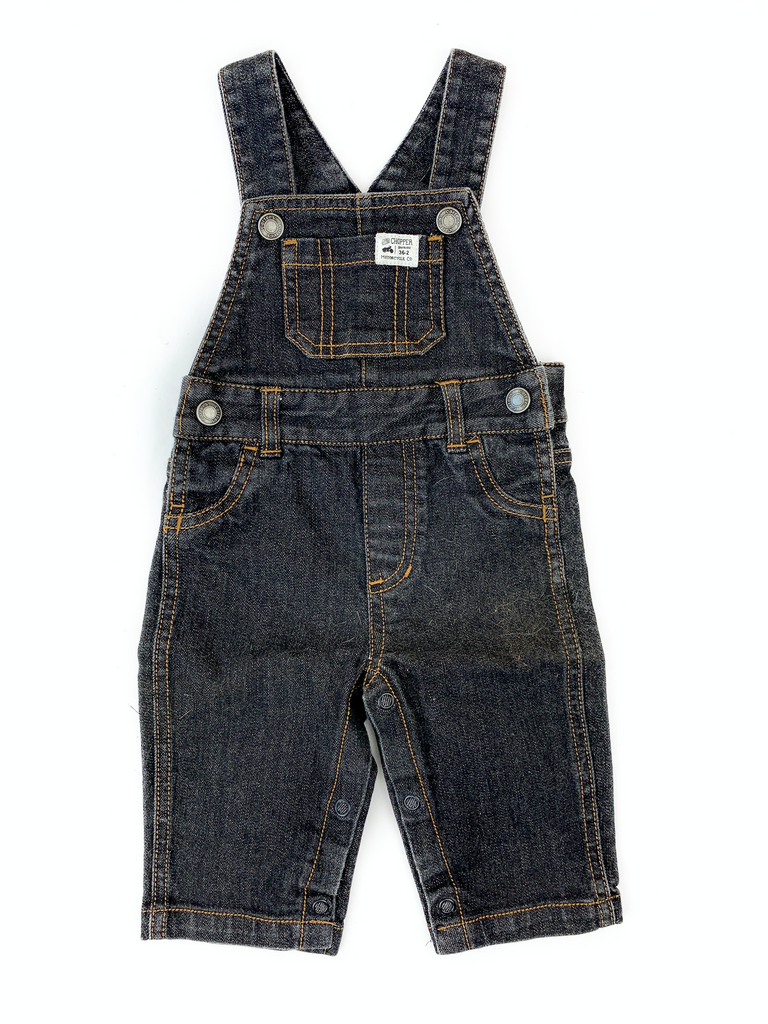 Carter's Black Denim Dungarees - 6 yrs