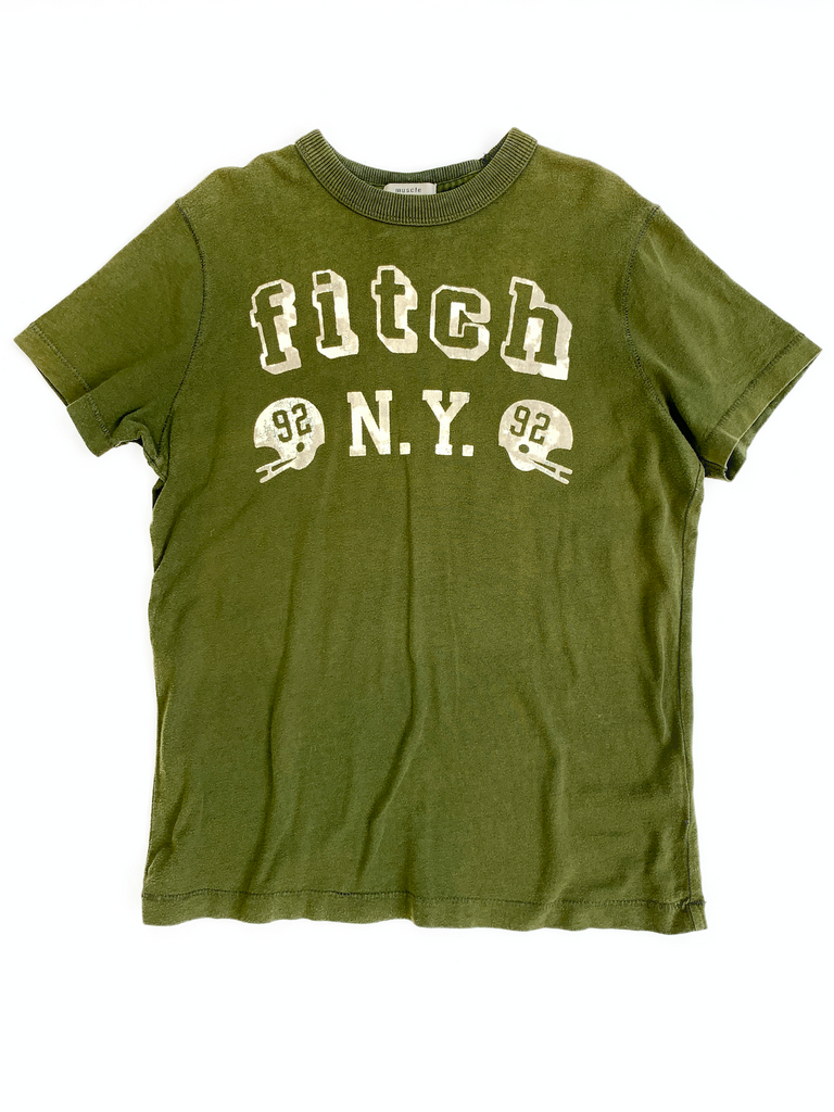 Abercrombie & Fitch Olive Green T-Shirt - 11/12 yrs