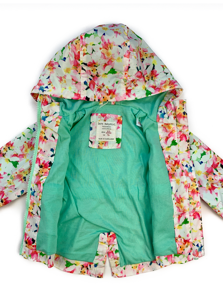 Zara Flower Raincoat - 6/9 mths