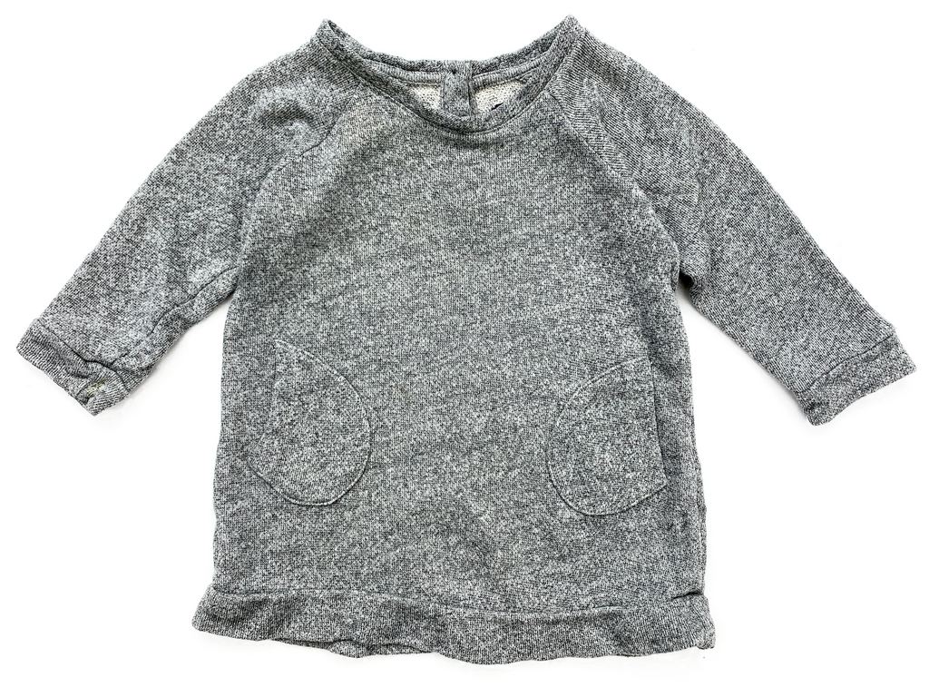 BabyGap Grey Jumper Dress - 18/24 mths