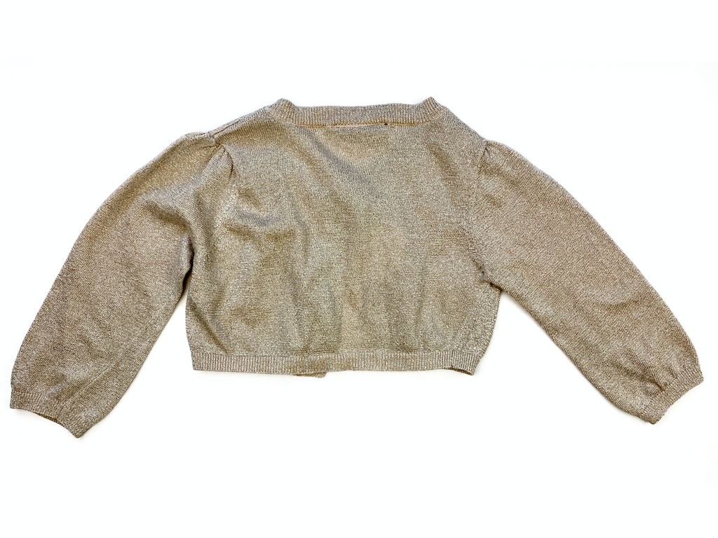 NEXT Gold Sparkle Cardigan - 3/4 yrs