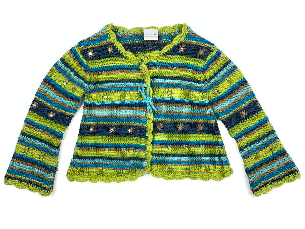 NEXT Green Knit Cardigan - 7/8 yrs