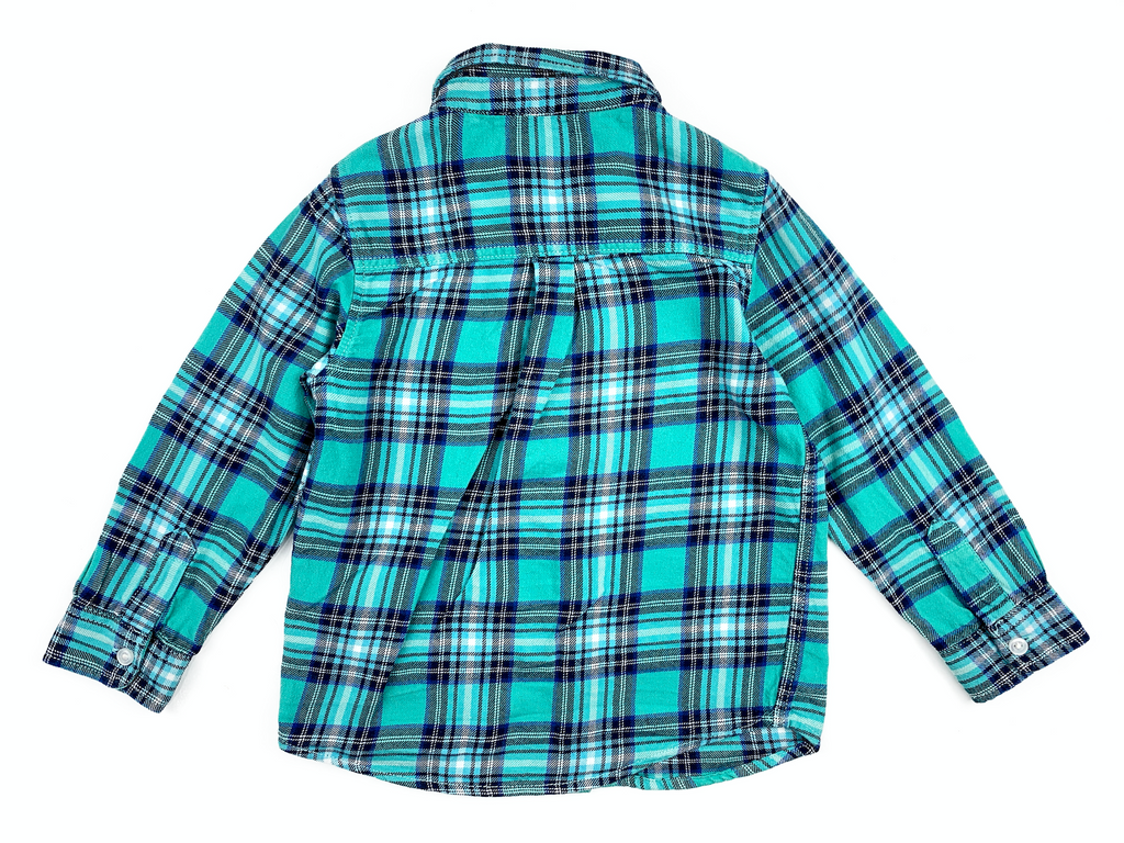 NEXT Green Checked Shirt - 2/3 yrs