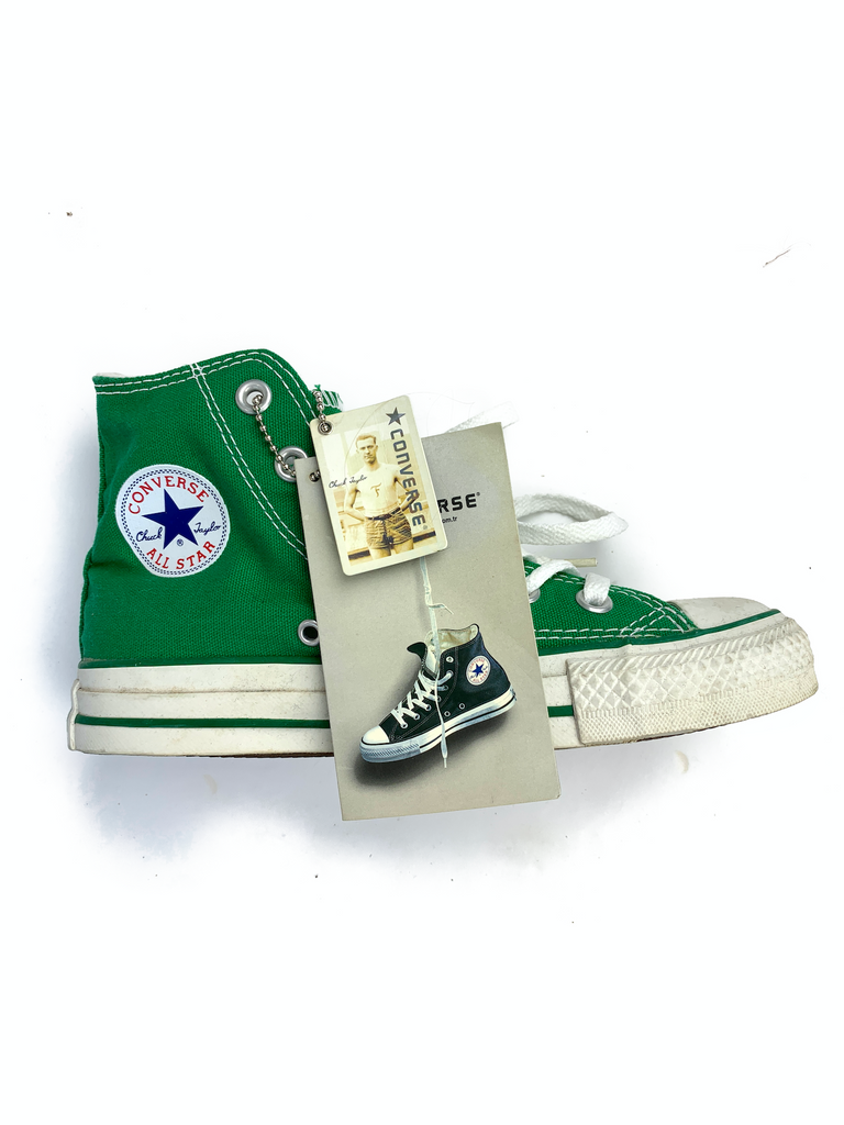 Converse Green Hi-Top Trainers - Size 36