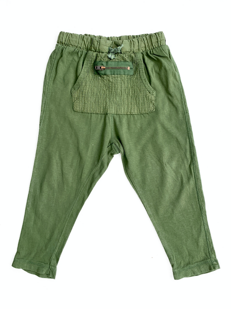 Zara Khaki Coloured Loose Fit Trousers - 18/24 mths
