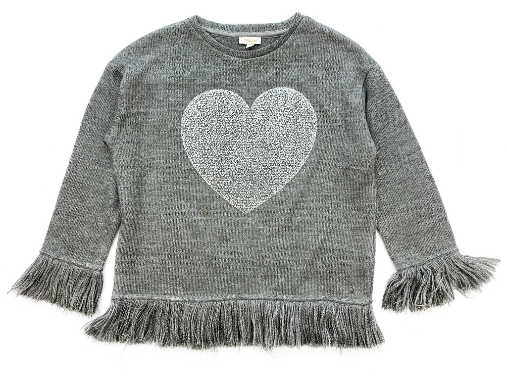 Microbe Grey Jumper with Silver Star - 7 yrs
