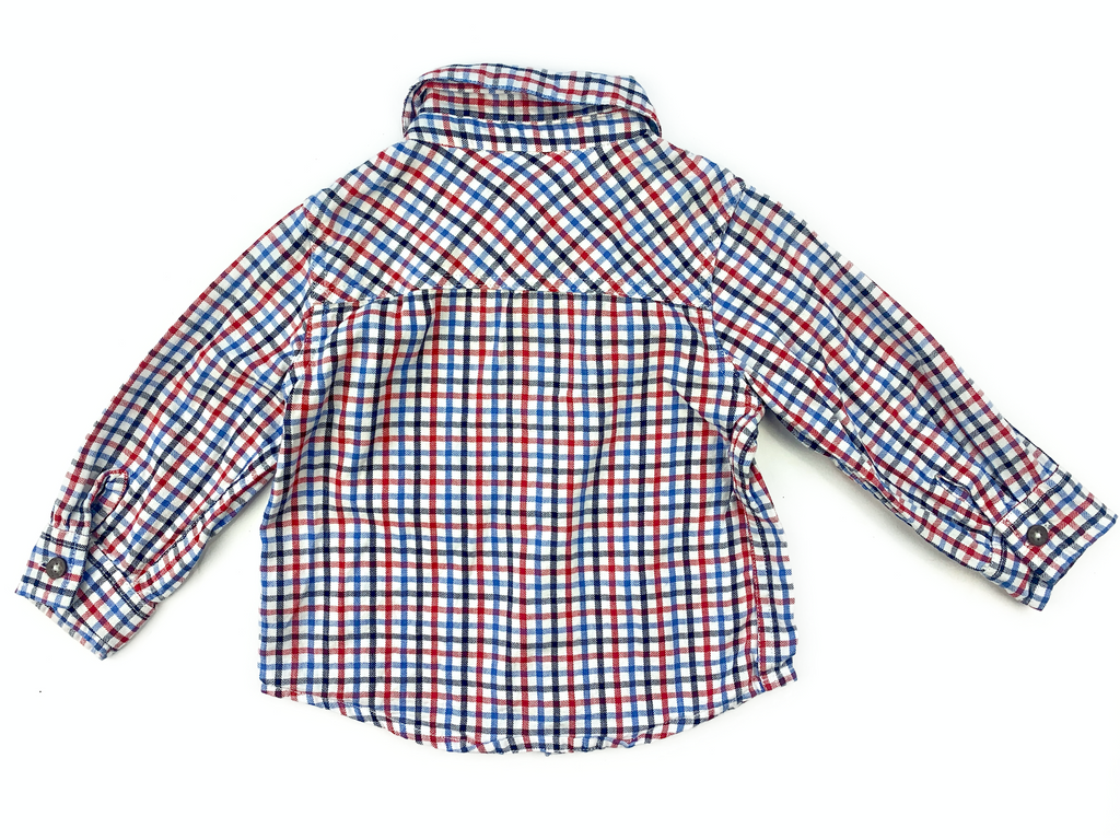 JoJo Maman Bebe Checked Shirt - 12/18 mths