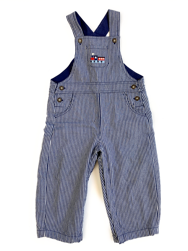 JoJo Mama Bebe dungarees with popper leg opening - 18/24 mths