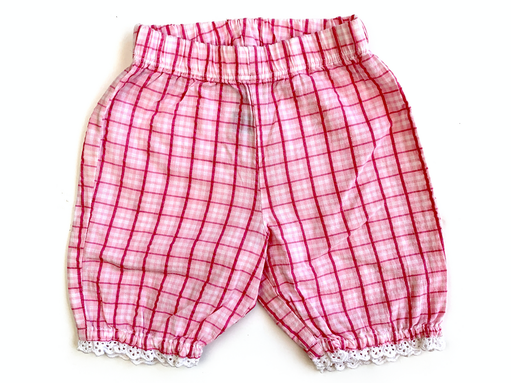 M&S Pink Gingham Shorts - 0/3 mths