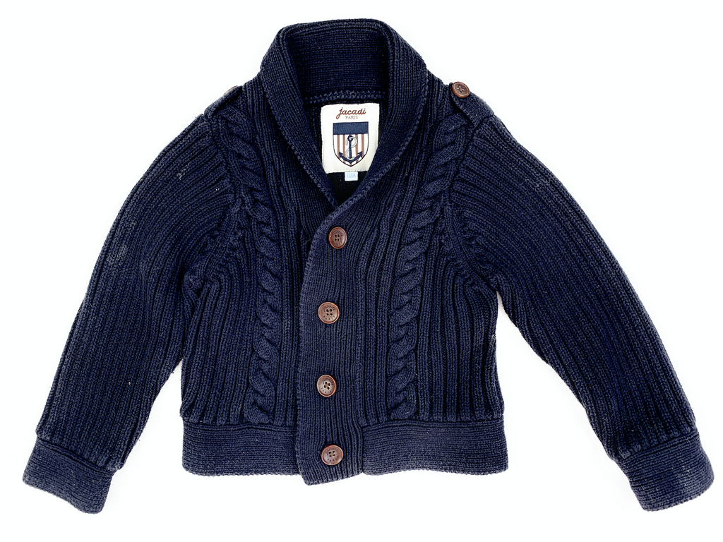 Jacadi Cable Knit Cardigan - 2 yrs