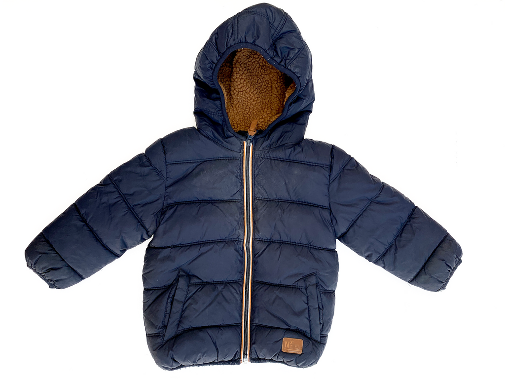 NEXT Navy Puffer Jacket - 18/24 mths