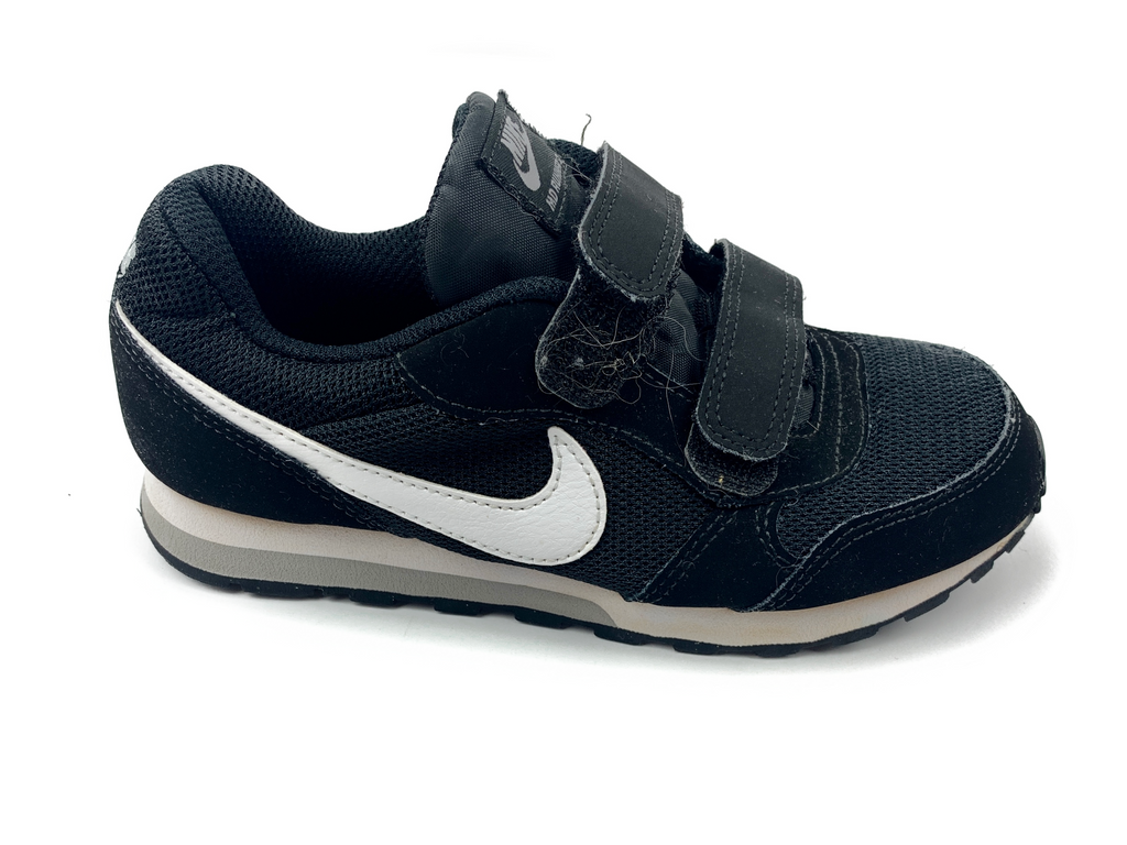 Nike Black Trainers wih White Swoosh - 28.5