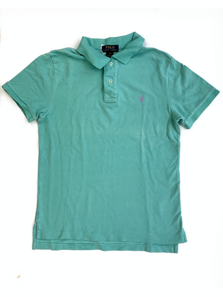 Ralph Lauren Pale Green Polo Shirt - 14/16 yrs