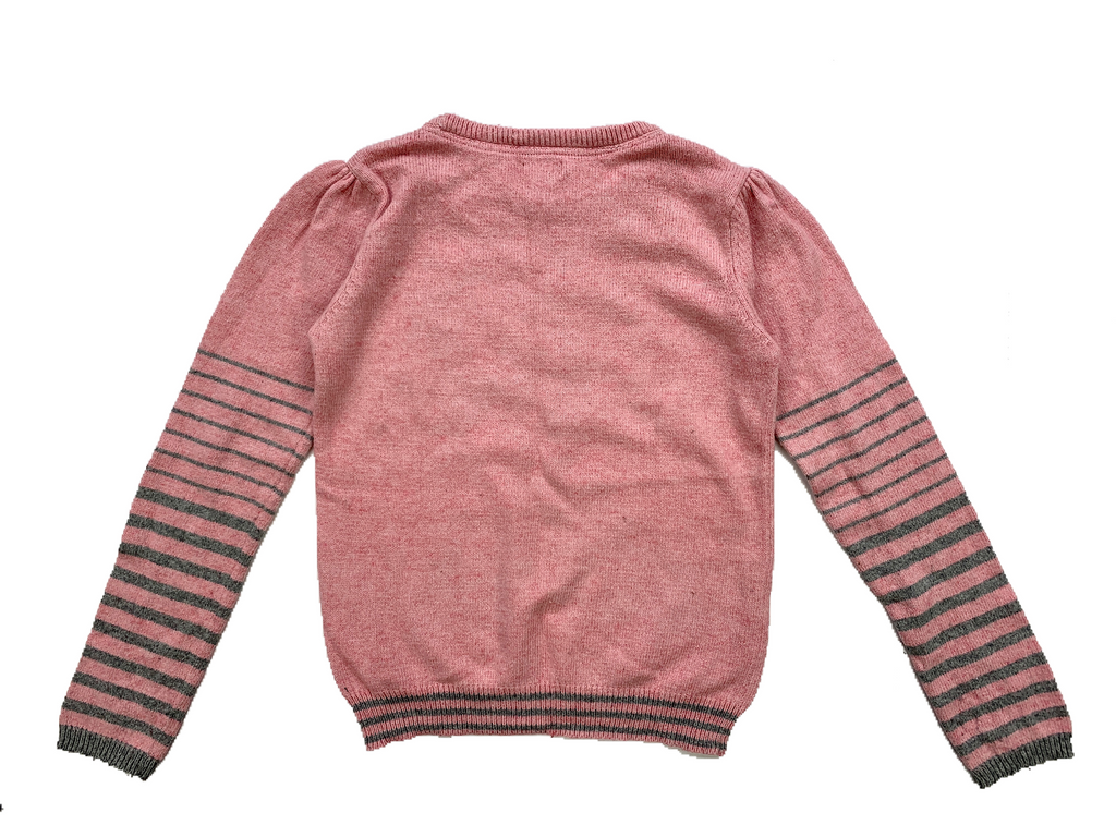 Monsoon Pink Jumper With Dog Image - 11/12 yrs