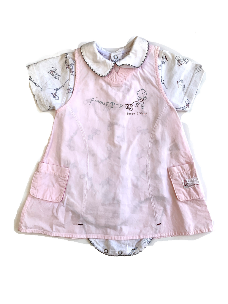 Sucre d'Orge Dress and Body set - 6 mths