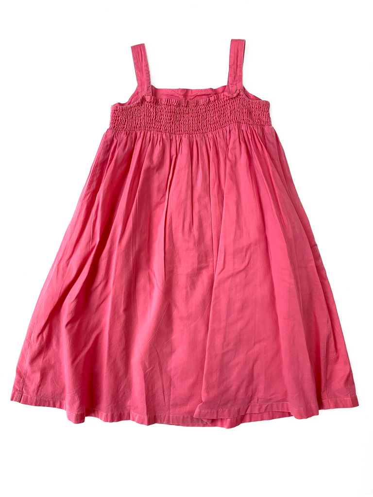 Mini Boden Pink Cotton Dress - 5/6 yrs
