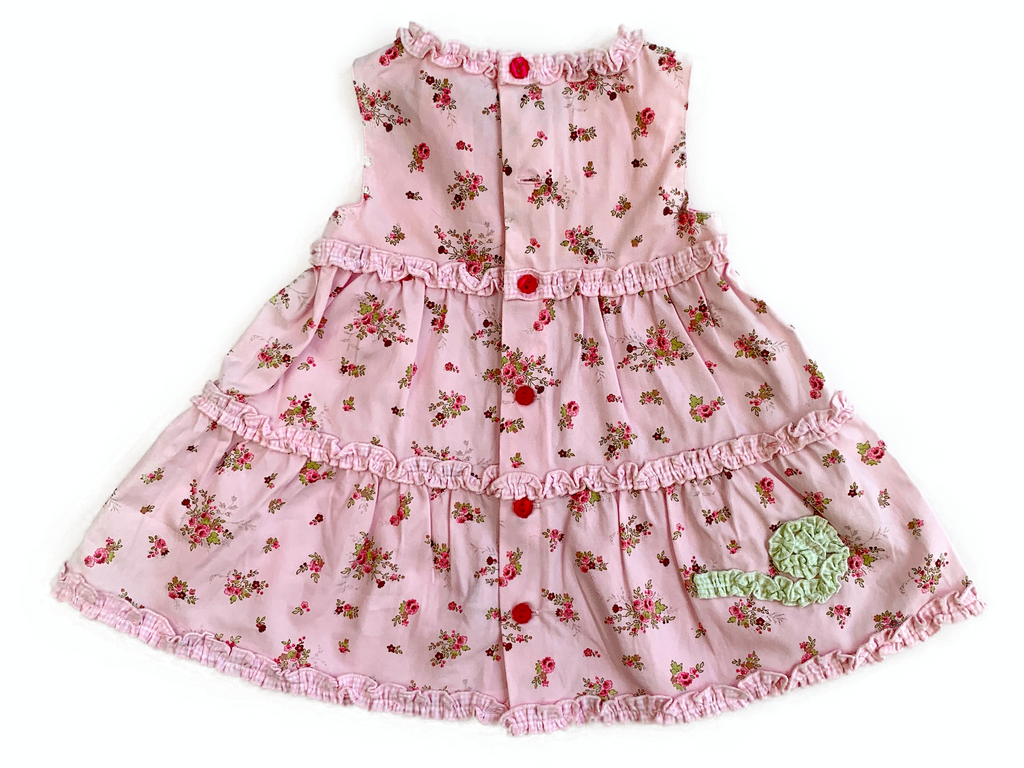 Pomme Framboise Dress - 3/6 mths