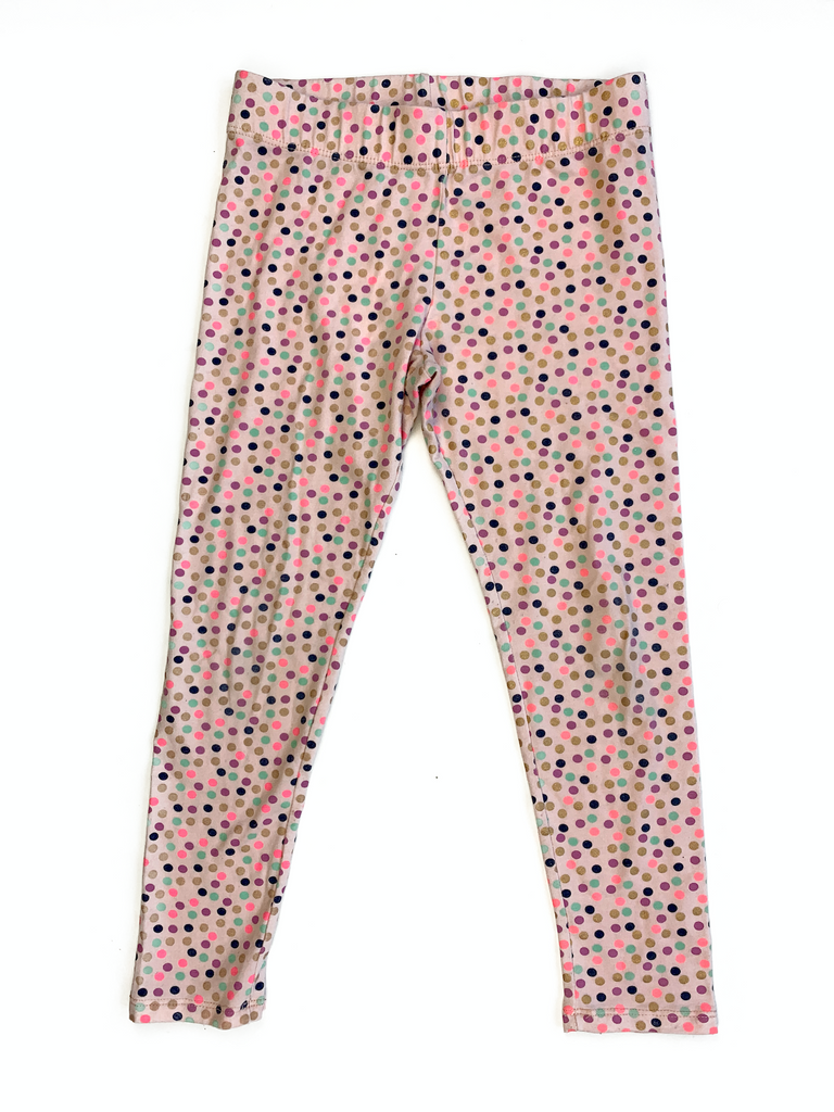 Cynthia Rowley Pink Spotted Leggings - 6/7 yrs
