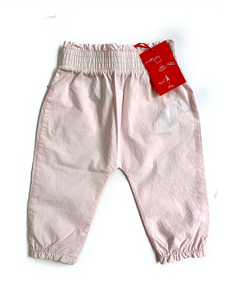 Lili Gaufrette Cotton Trousers with elasticated waist - 12 mths