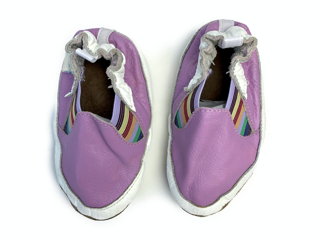 Robeez soft leather and suede sole shoe - 6/12 mths