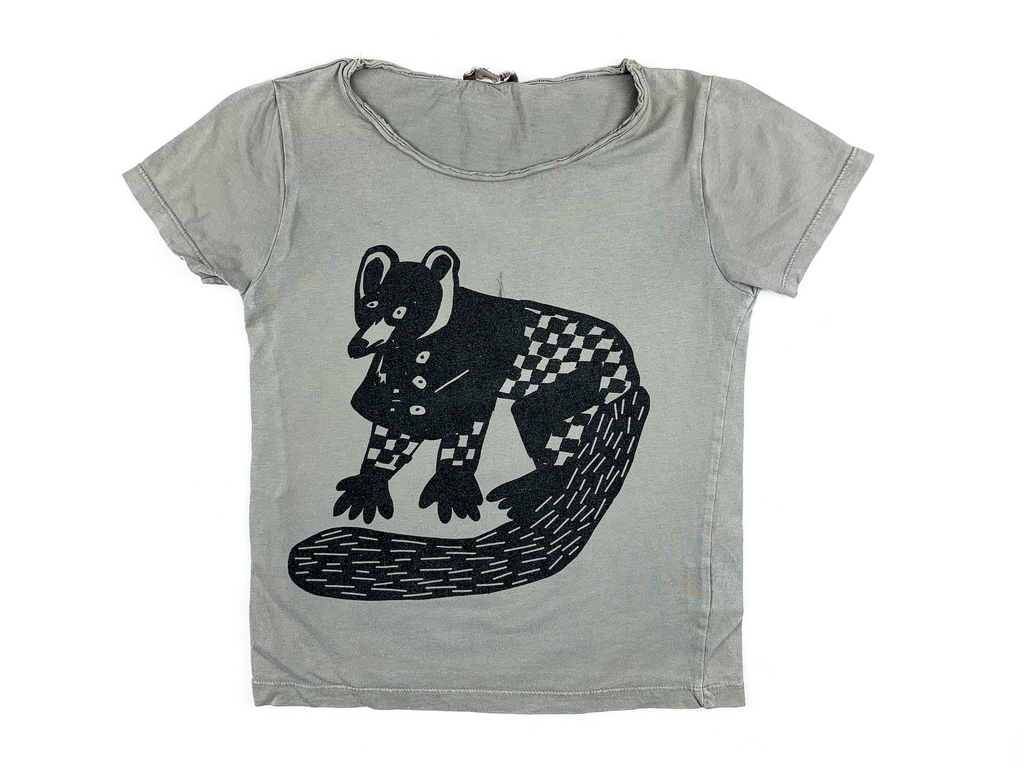 Emile et Ida T-Shirt with Racoon Print - 4 yrs