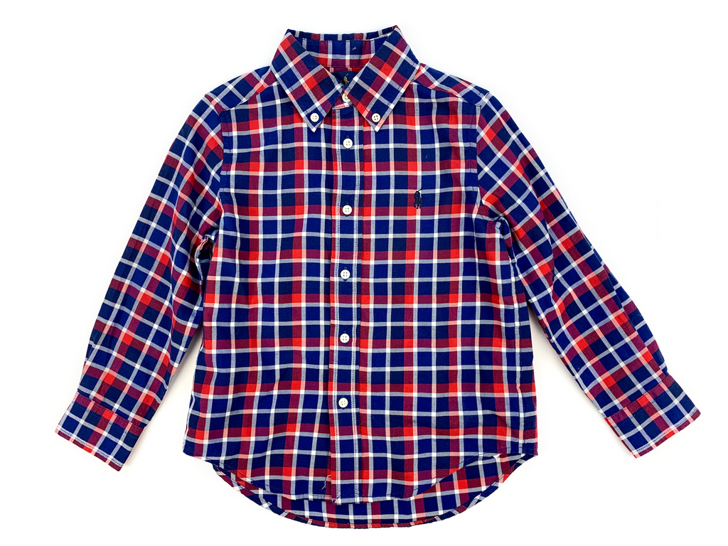 Ralph Lauren Blue and Red Checked Shirt - 4 yrs