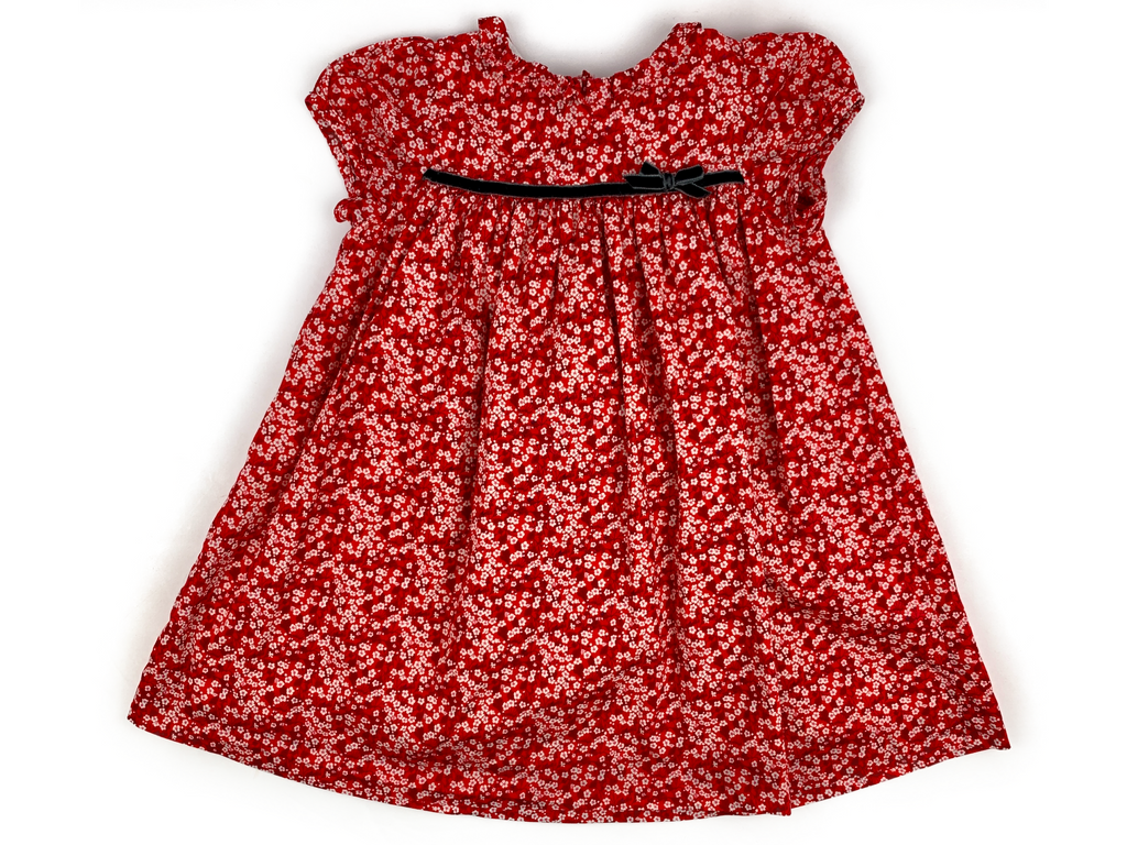 Lily Rose Red Flower Dress - 18/24 mths