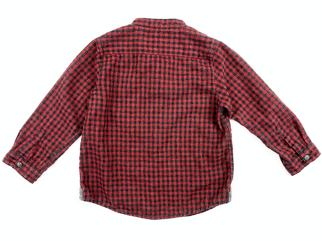 Zara Red and Black Checked Shirt - 2/3 yrs