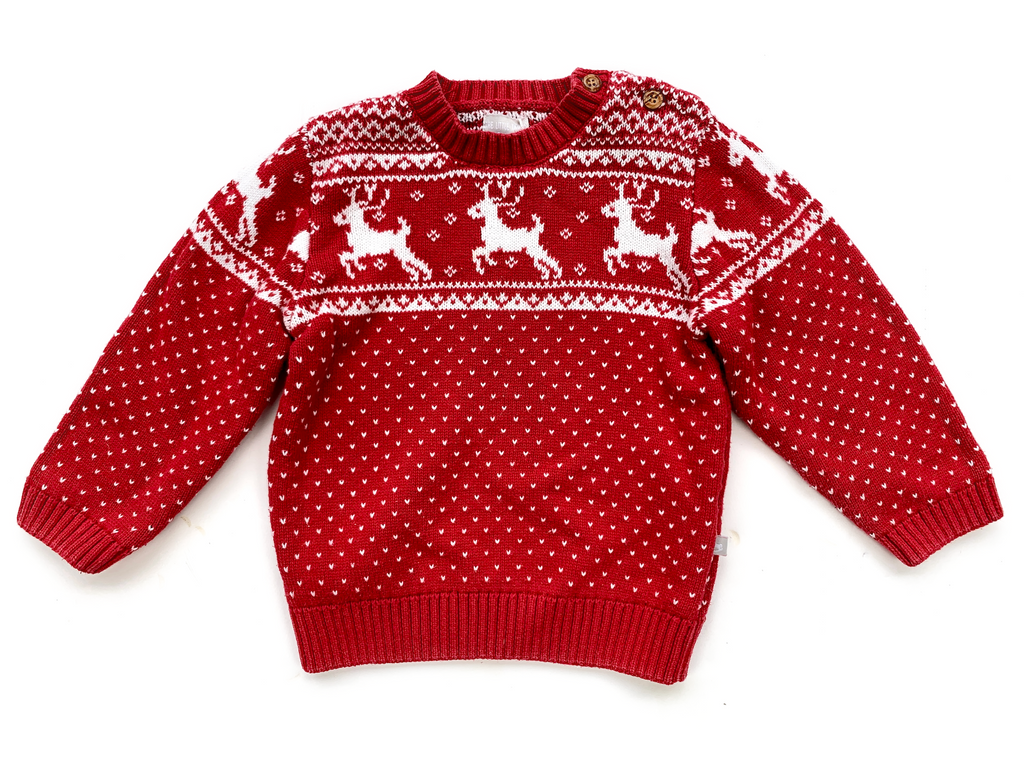 The Little Tailor Christmas Jumper - 18/24 mths
