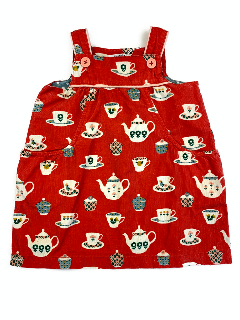 Baby Boden Red Cord Dress - 12/18 mths