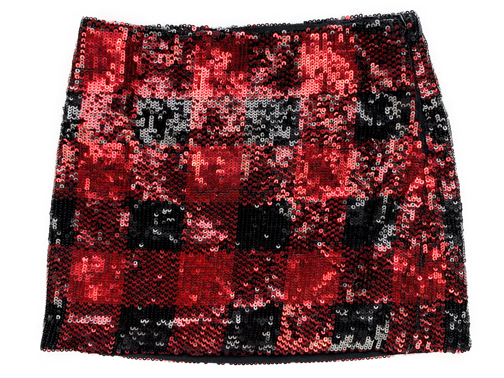 Ralph Lauren Black and Red Sparkle Skirt - 7 yrs