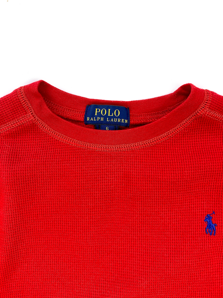 Ralph Lauren Waffle Long Sleeved Top - 6 yrs