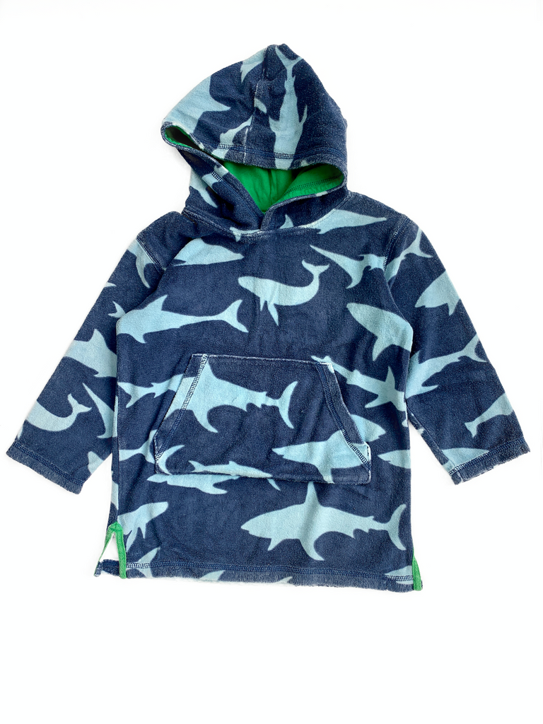 Mini Boden Toweling Hoodie - 4/5 yrs