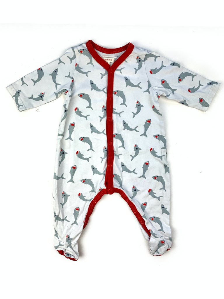 Catimini Shark Sleepsuit - 1 mth