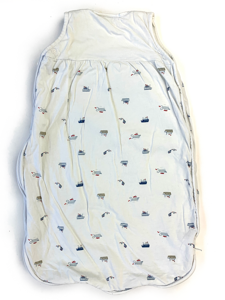 The Little White Company Sleeping Bag with Ships print (2.5 tog) - 0/6 mths