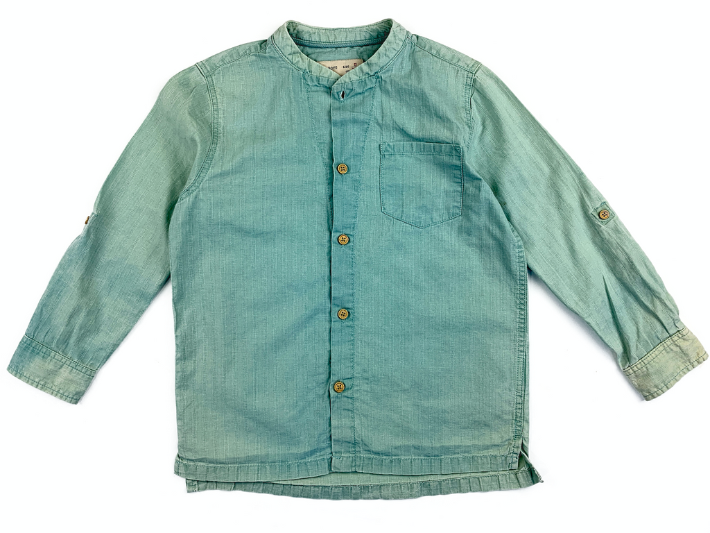 Zara Boys Green Fade shirt - 5 yrs