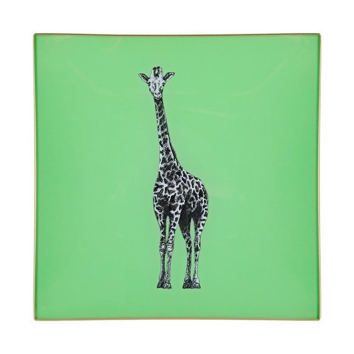 Pale Green Giraffe Glass Tray