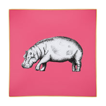 Load image into Gallery viewer, Raspberry Pink Hippo Glass Tray