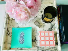 Load image into Gallery viewer, Mint Green Pineapple Glass Tray