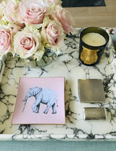 Load image into Gallery viewer, Blush Pink Elephant Glass Tray