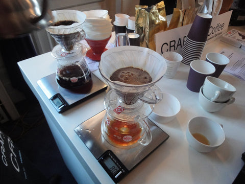 A pour over coffee brewer.
