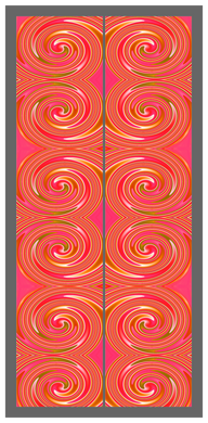 Big Swirl-Orange-Pink