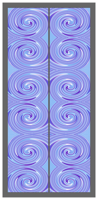 Big Swirl-Purple-Blue