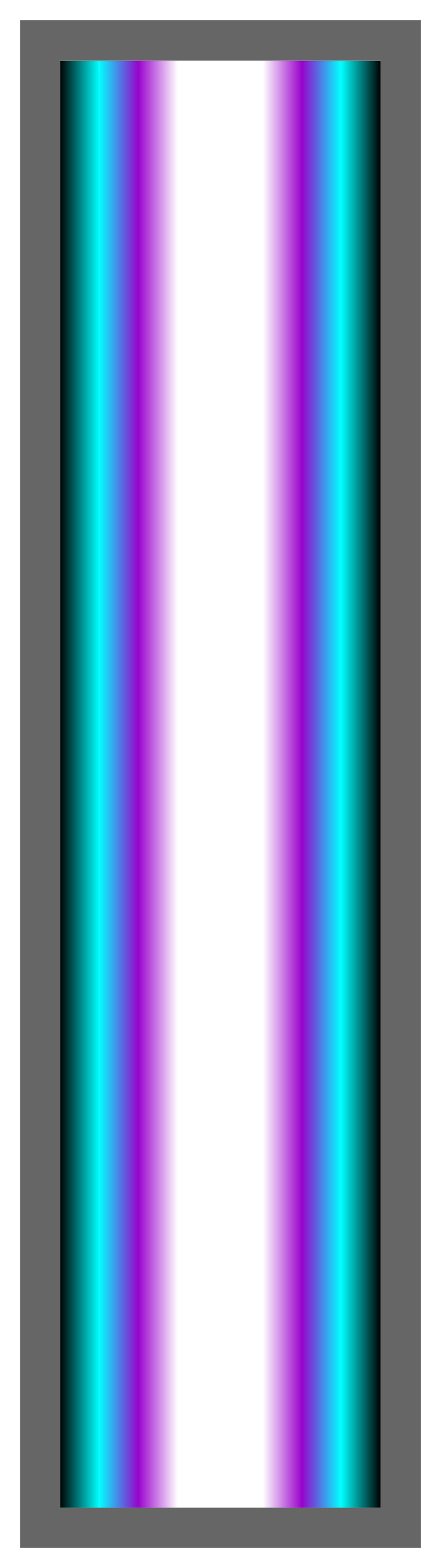 Black-Aqua-Purple-White Ombre Stripe