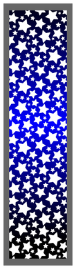 Black-Blue Ombre Stars