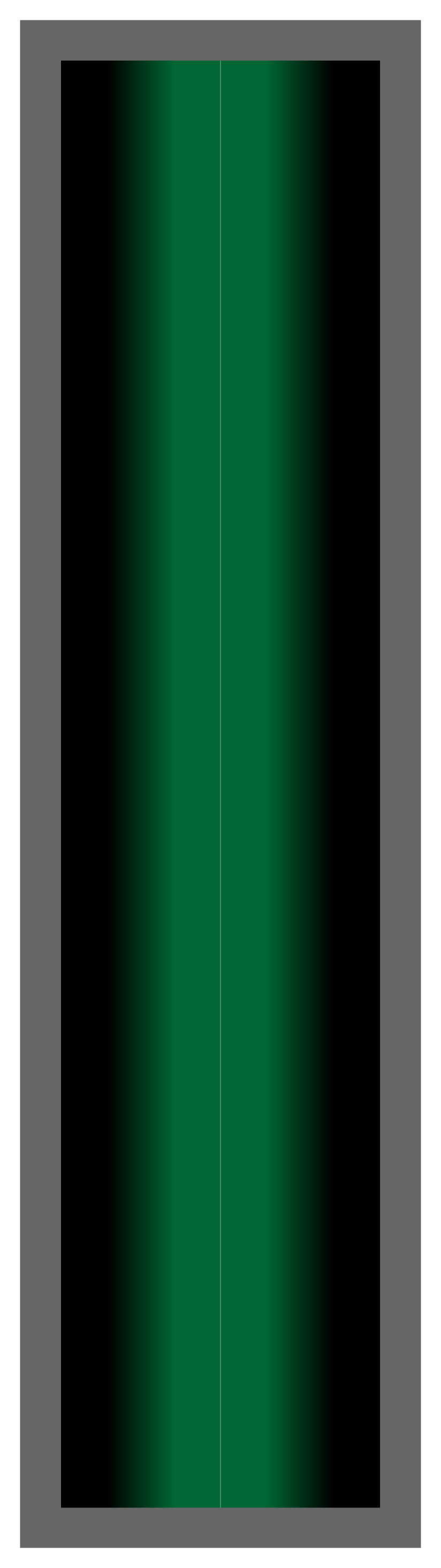 Black-Green-Black Ombre Stripe