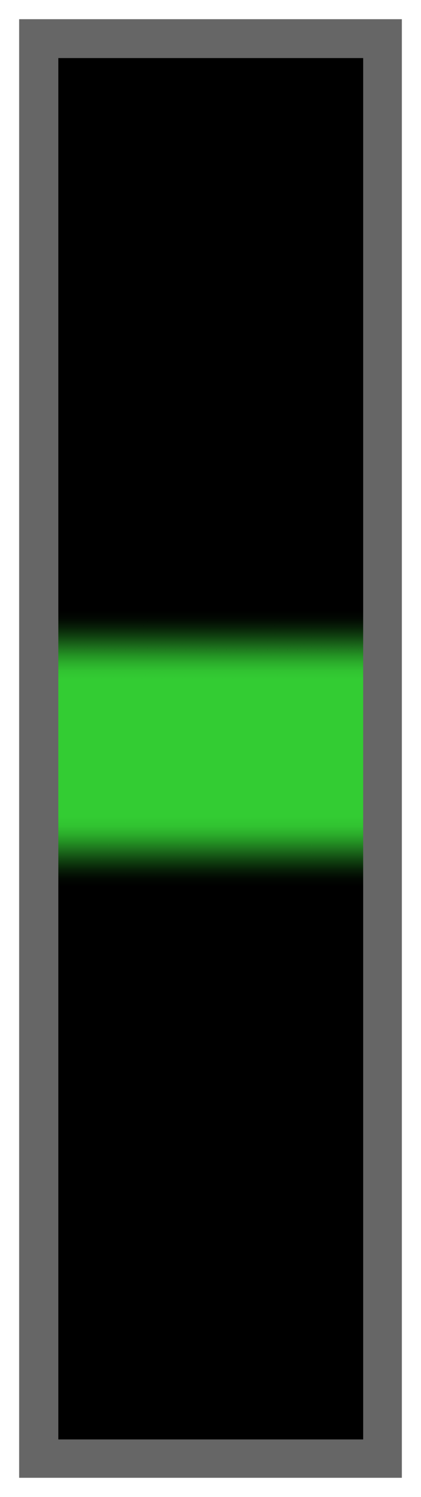 Black-Lime Green Center Tailless