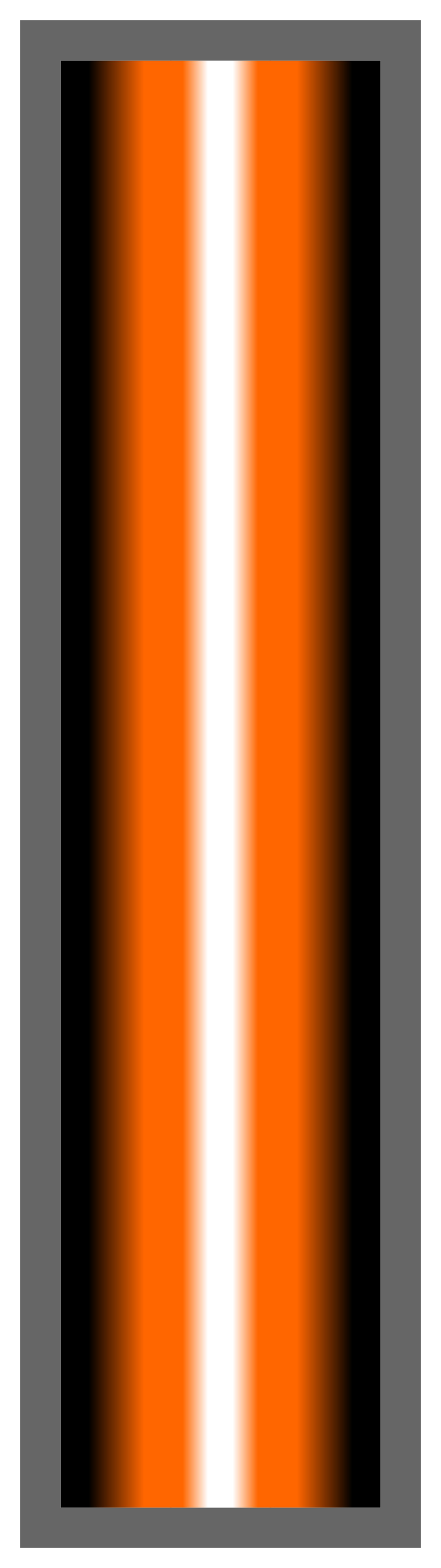 Black-Orange-White Ombre Stripe